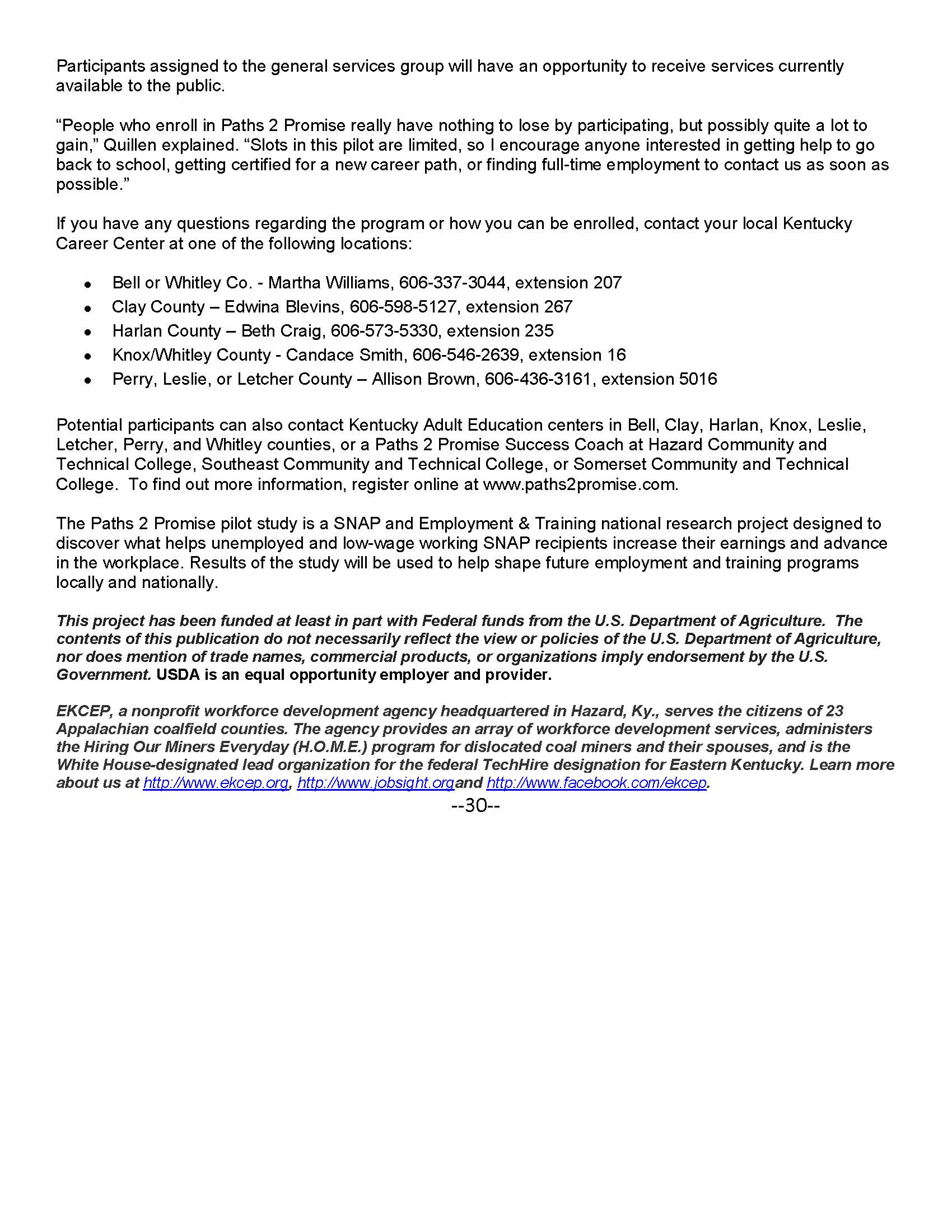 Paths 2 Promise Press Release Page 2